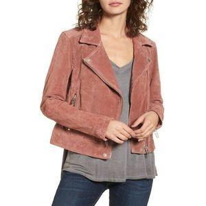 BLANKNYC M Cedar Denim Suede Moto Zipper Jacket